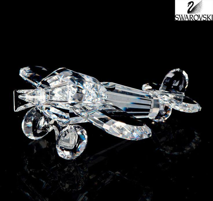 Swarovski clear crystal figurine airplane aeroplane - Figuras de cristal swarovski ...