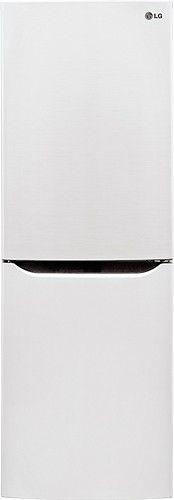 LG - 10.1 Cu. Ft. Counter Depth Bottom-Freezer Refrigerator - Smooth White - Larger Front