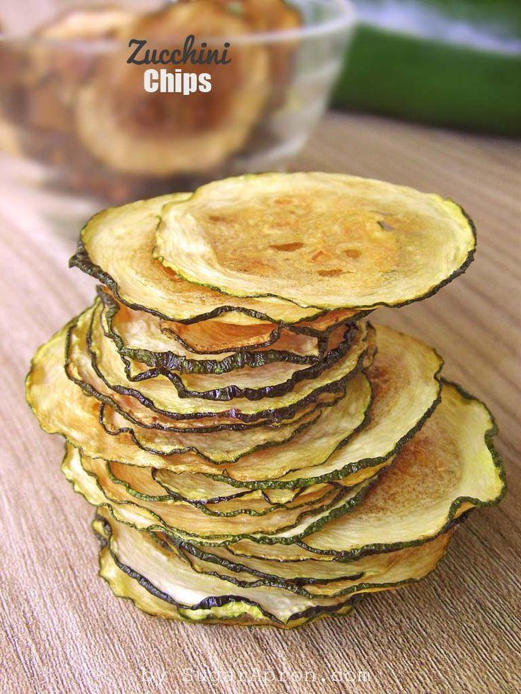 Baked Zucchini Chips Recipe | www.sugarapron.com | #recipes #zucchini #chips