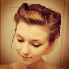 Decided to wear victory rolls to work a few weeks ago. Even though my hair is Posh bob short, it still worked!