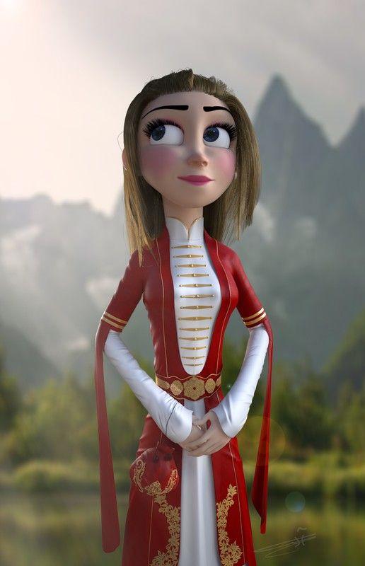 Circassian Princess created by AlanLoustan of Syria.  http://metalentsawards.com/en/contest/view/2079