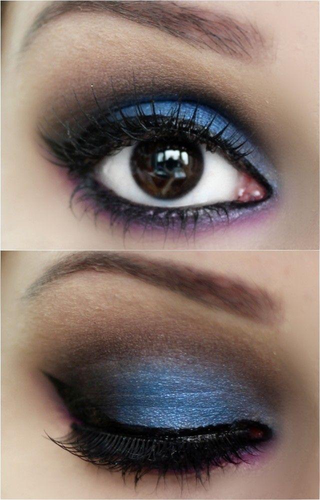 Passo a passo maquiagem azul, roxa e preta - tudo make 0005