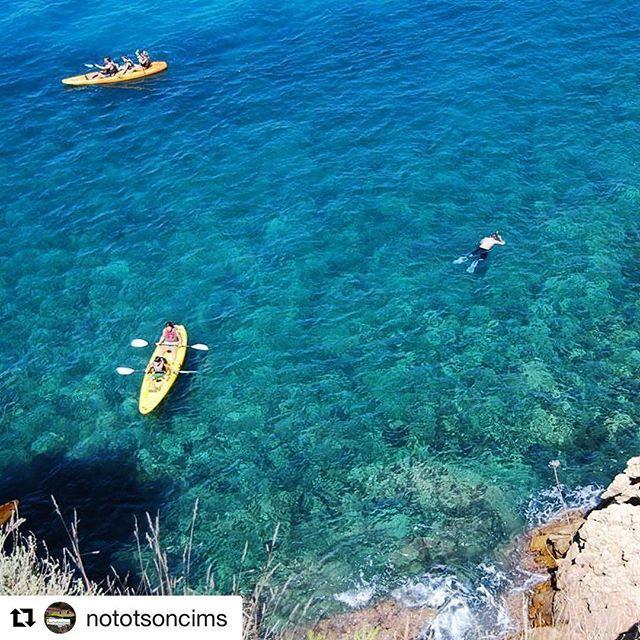 Instagram #Repost @nototsoncims ・・・ Abans, a mig o després de fer un Camí de Ronda... La foto es de Castell, però podria ser a qualsevol altre lloc. #palamos #palamosonline #naturapalamos #visitemporda  #emporda #caiac #kayac #kayaking #snorkeling #costabrava #palamós