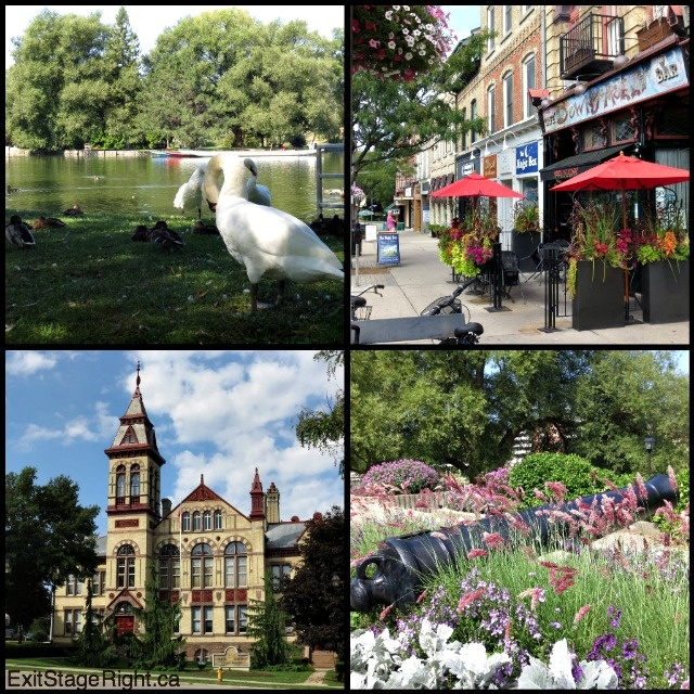 Something in me relaxes - in a wholly different way - when I get to Stratford! (Ontario, Canada)