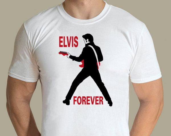 Elvis Forever T-shirt Design by graphic artist Jarod.  Availabe from www.rocknprint.nl