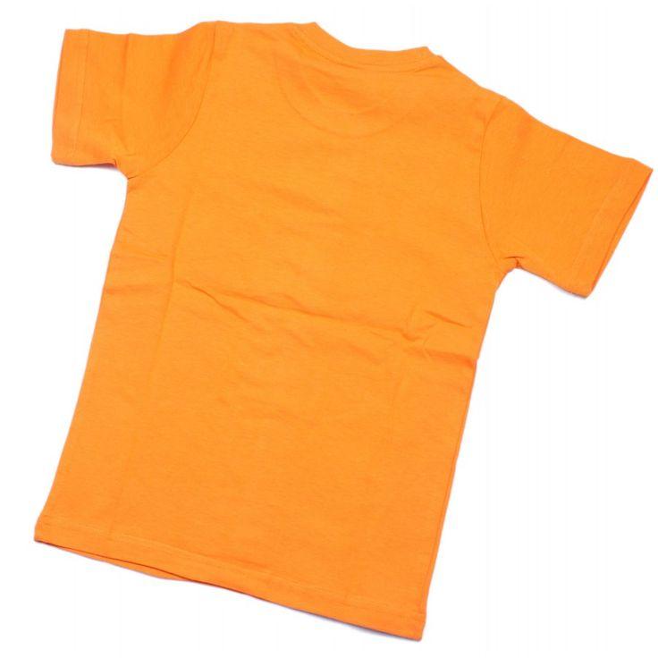 Футболка детская оранжевая однотонная