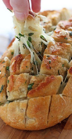 Cheesy Garlic Herb Crack Bread | Bake a Bite