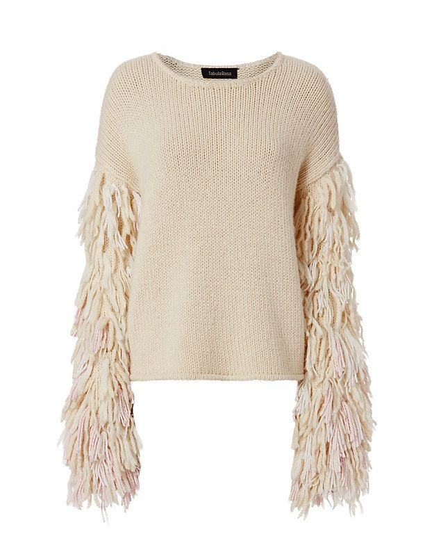 Tabula Rasa Karash Fringe Sleeve Sweater
