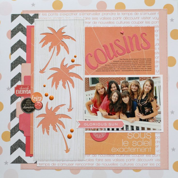 """Cousins"" layout with Echo Park dies - Scrapbook.com"