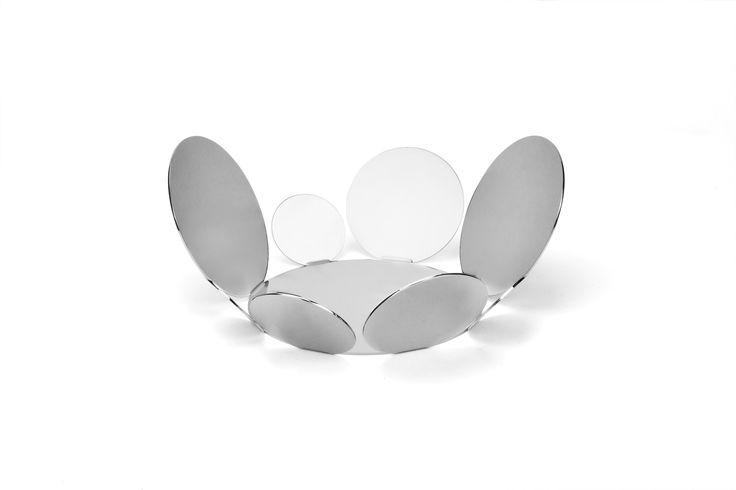 11 inch fruit bowl in stainless steel grade 18/10 by Elleffe Design