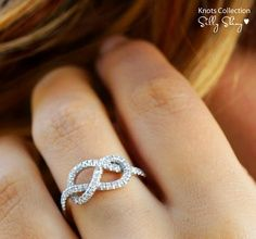 Infinity Knot Diamond Ring The Original Gold Silly Shiny Diamonds Engagement Wedding Promise