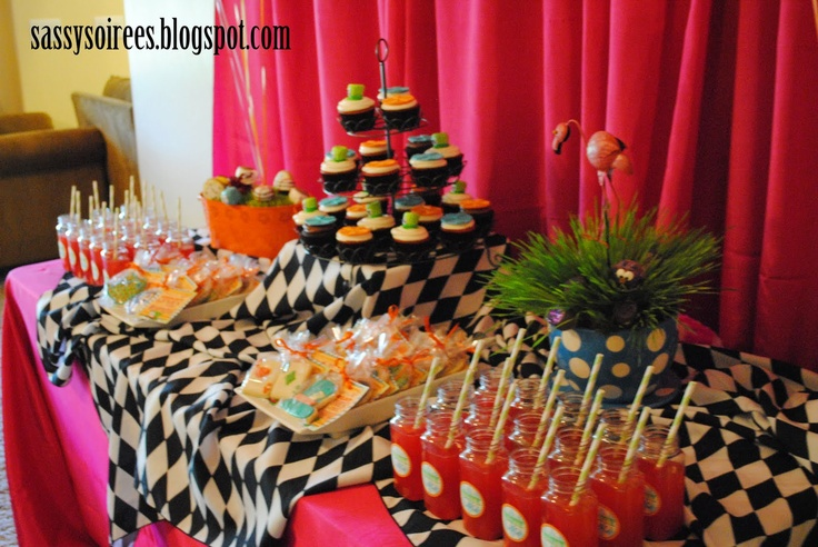 Mad Hatter Tea Party Dessert Table