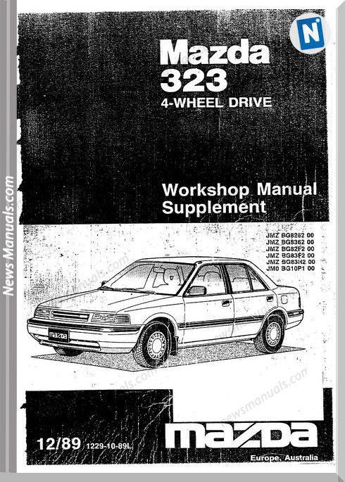 Mazda 323 Bg 4wd Workshop Manual Mazda Workshop Electrical Diagram