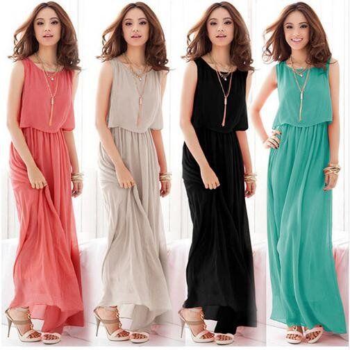 Boho Dress Chiffon Big Plus Size Summer Dress Long Maxi Dress