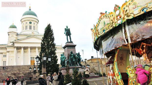 Хельсинки — Кафедральный собор /Helsingin tuomiokirkko/, или Собор Святого Николая, и Сенатская площадь /Senaatintori/