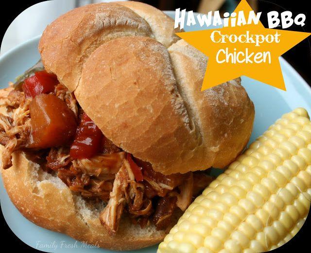 Hawaiian BBQ & Bell Pepper Crockpot Chicken Easy Dinner everyone will LOVE!