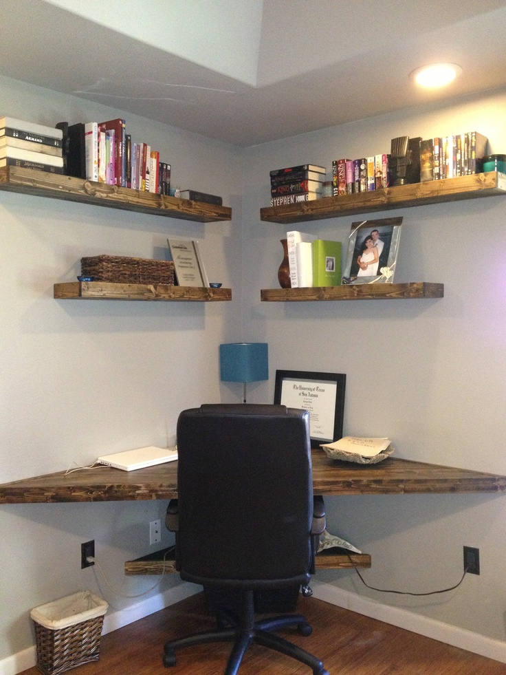 Hand crafted contemporary corner desk with floating