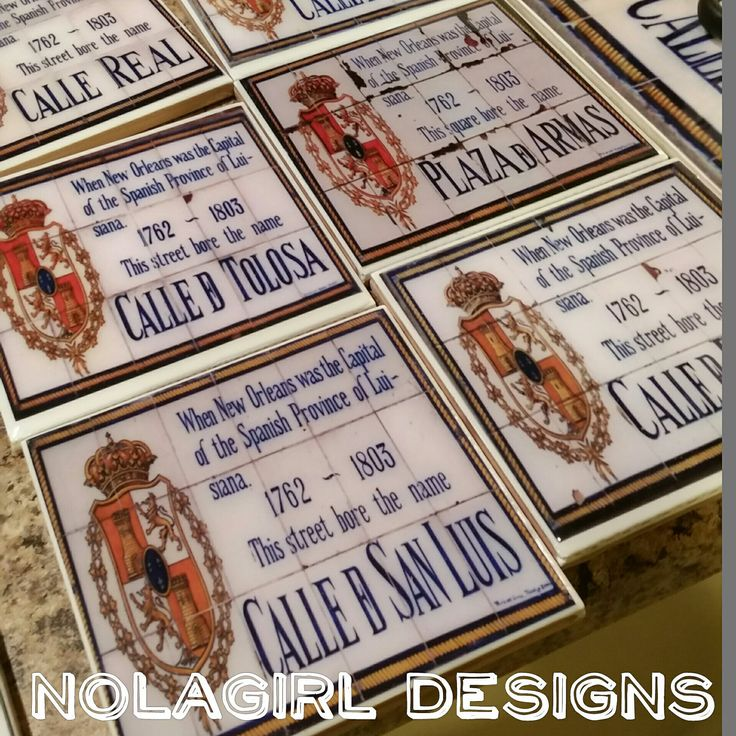 I love working with tiwles and epoxy. The finish is clean and smooth. A great gift or addition to any home.  #neworleans #city #home #decor #NOLA #New #Orleans #coasters #decorative #frenchquarter #spanishtiles #tiles #historic