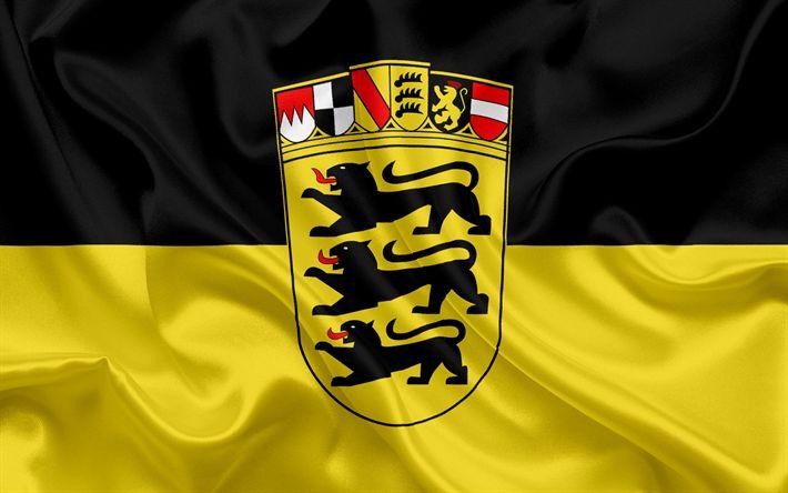 تحميل خلفيات العلم بادن فورتمبيرغ, أرض ألمانيا, أعلام من الأراضي الألمانية, بادن فورتمبيرغ, الدول من ألمانيا, الحرير العلم, جمهورية ألمانيا الاتحادية