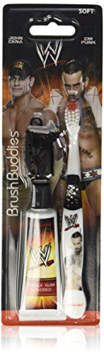 #care Toothbrush Travel Kit - WWE #John #Cena & CM Punk - Soft Bristle - Bubble Gum Flavored Toothpaste and Cap Cover