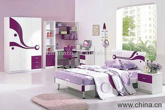 Expensive teenage bedroom ideas for girls | Purple teenage bedroom furniture color decorations