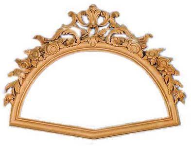Espejo con marco en forma de abanico.  Medidas:  Ext. 63,5 x 86 cm  Int. 36,5 x 70,5 cm - Fabricado y decorado artesanalmente con un material innovador resistente y ligero como es la resina de poliuretano. Tiene un tacto semejante a la madera pero sin sus inconvenientes. Precio: 122 euros #decoracion con encanto #Espejos