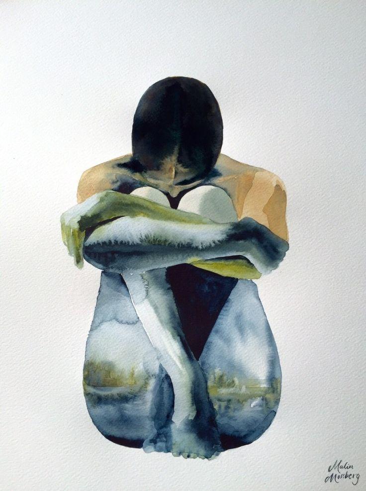 Jorden,akvarell Malin Mossberg
