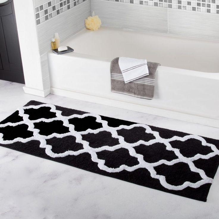 Checkered Bath Rug: 25+ Best Black And White Bathroom Ideas On Pinterest