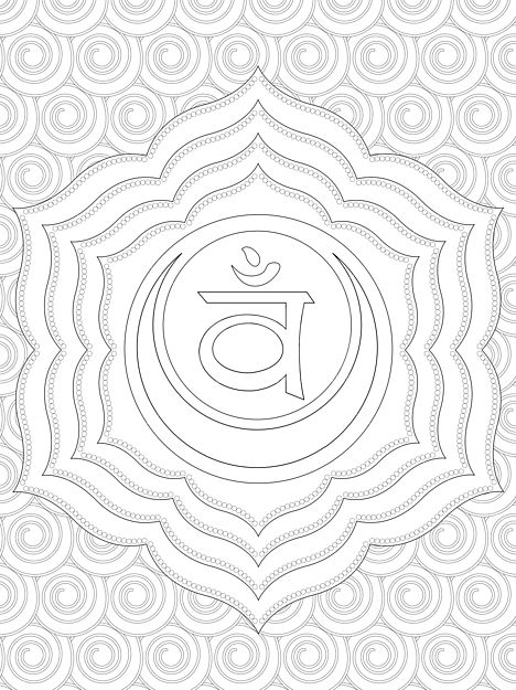 chakra symbols coloring pages - photo#21