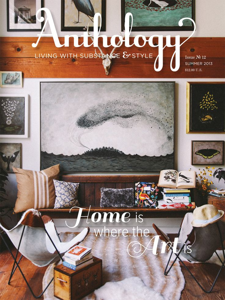 Anthology takes a narrative approach to its coverage of decorating, entertaining, travel, design, gardening, and culture. From telling the story behind
