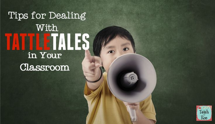 Great tips for dealing with tattletales in the classroom with a cute freebie!