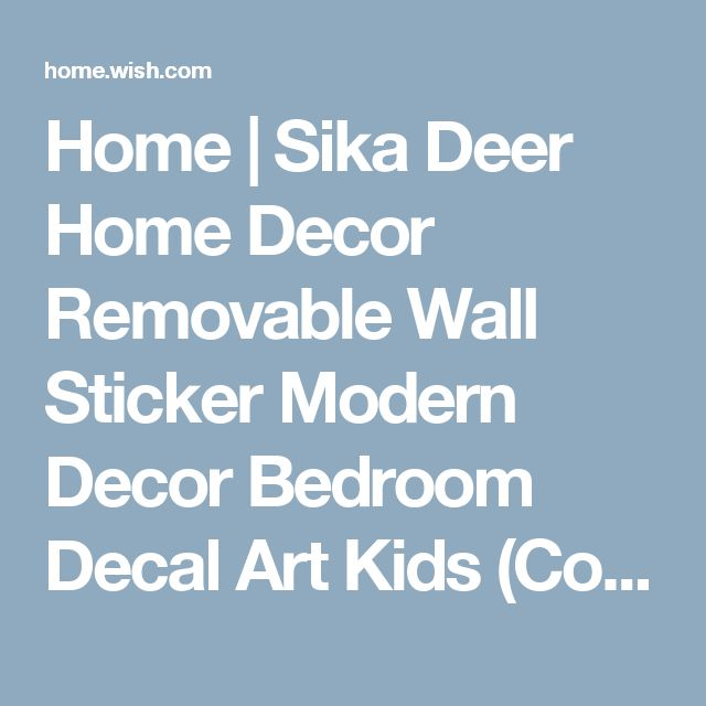 Home | Sika Deer Home Decor Removable Wall Sticker Modern Decor Bedroom Decal Art Kids (Color: Multicolor)