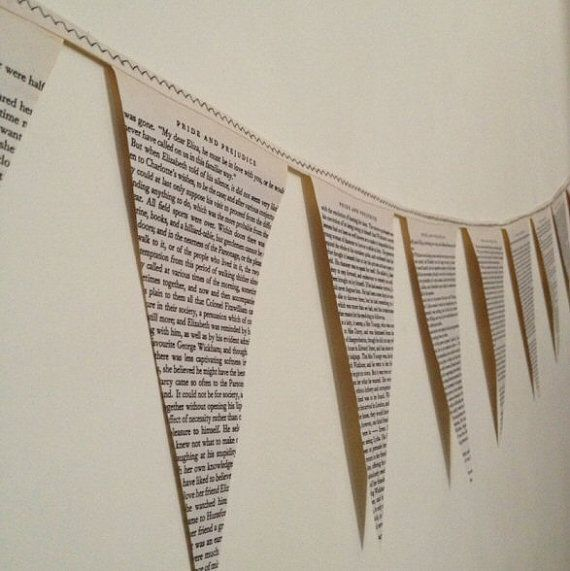 Made to Order Book Bunting by RosalindAshberrys on Etsy, £5.50