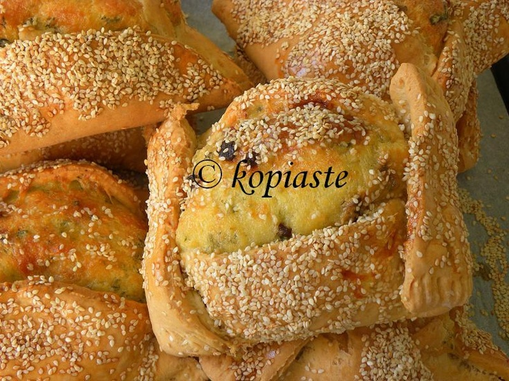 Greek Easter traditions:  Flaounes (Cheese bread) from Cyprus.