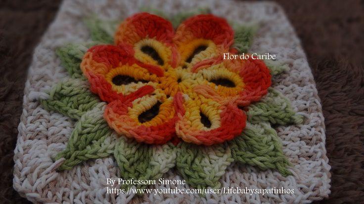 Passo a passo da Flor do Caribe em Crochê Más