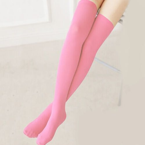 CHIC-New-Women-Students-Summer-Skidproof-High-Over-Knee-Long-Socks-Stocking-Tube