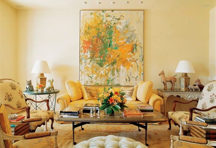 My North Facing Room Paint Color Is Depressing Me - laurel home | wonderful sunny, warm fabulous living room by Bunny Williams