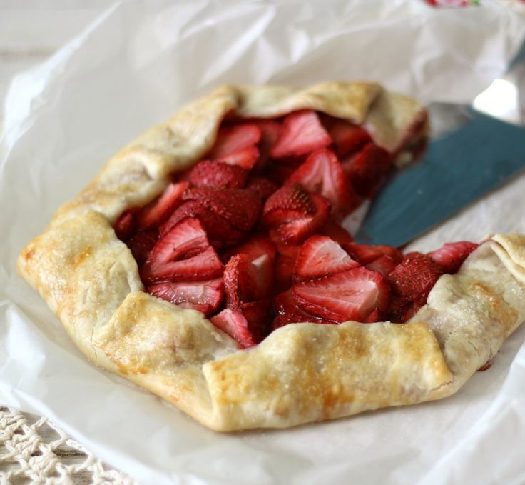 Strawberry Galette - A light, summery open faced pie filled with sweet ...