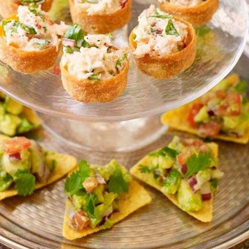 21 of the best canape recipes tortilla chips avocado for Easy canape fillings