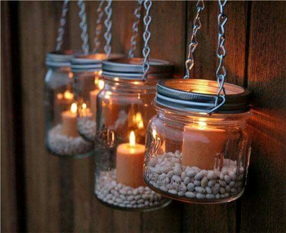 Hanging jar lights