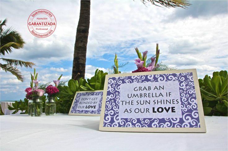 don´t get blinded by our love.  #DestinationWeddings #BeachWedding #BlueBayGrandEsmeralda  #LoveMemories #Weddings #CreandoMomentosMemorables www.lovememories.com.mx