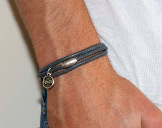 d370809c4c3de Bijoux - cadeau homme - cadeau ami Bracelet - Bracelet en cuir pour hommes  - hommes hommes - mari cadeau - cadeau pour les hommes - Bracelet masculin