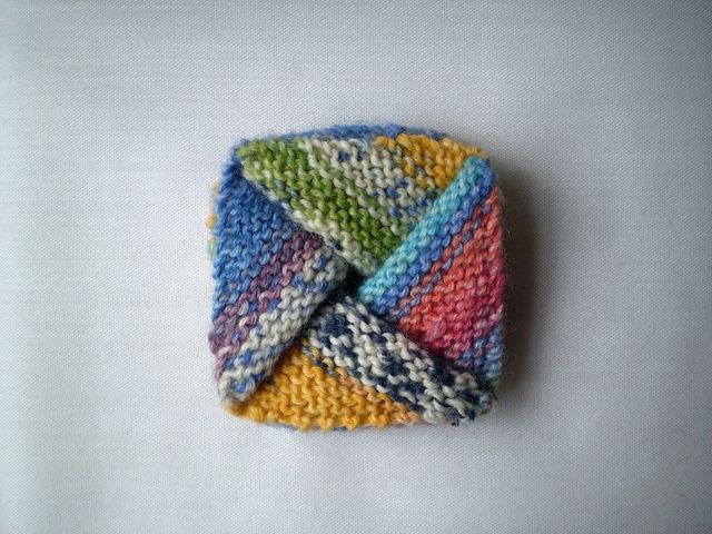 Pinwheel Purse. Collapsible garter stitch box. Knit Bags ...