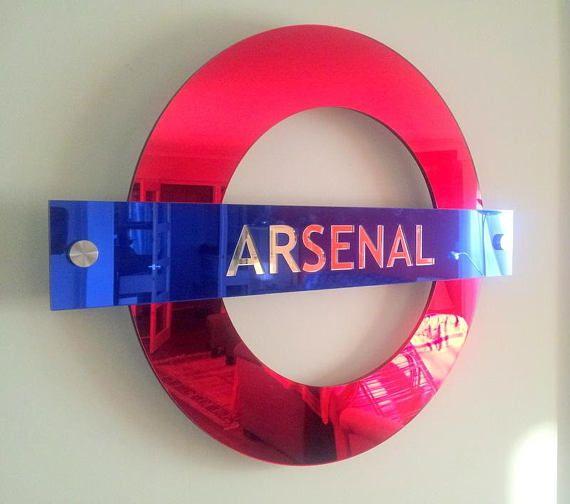 London Underground mirrored cast acrylic sign