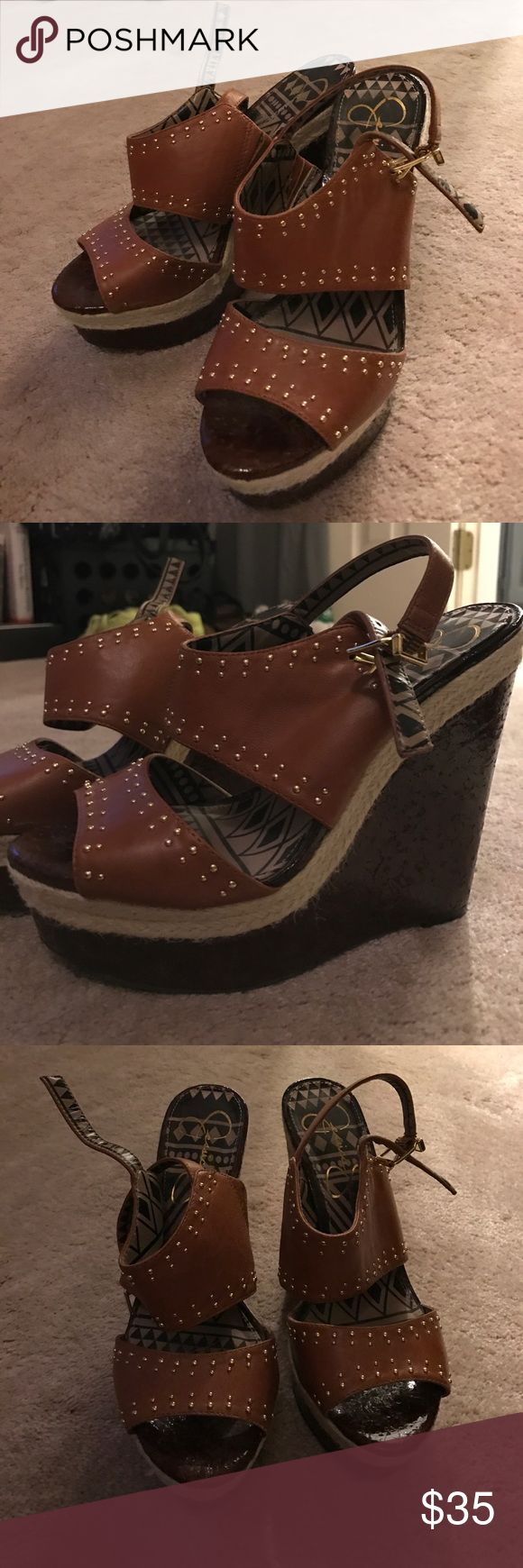 Jessica Simpson Wedges 7 1/2 Jessica Simpson Wedges in perfect condition! Jessica Simpson Shoes Wedges