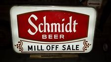 Vintage Schmidt Beer Lighted Sign