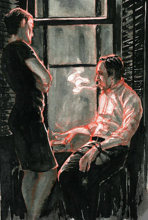 M. Spencer (http://mspencerillustration.tumblr.com/) Felt like doing some ink work.Just my favorite fictional couple. Francis and Claire Underwood of Netflix's House of Cards colored pencil & ink