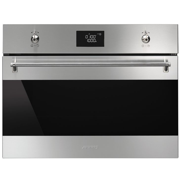 Smeg Clic Compact Combination Microwave Oven Stainless Steel From Our Ovens Range At John Lewis