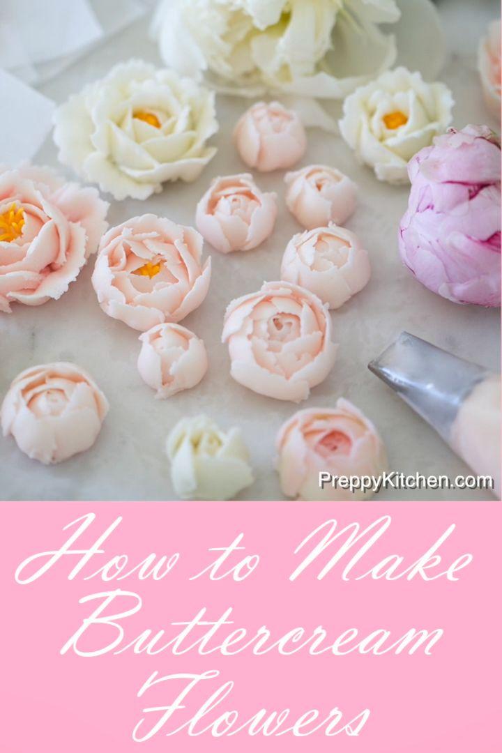Cómo hacer flores de crema de mantequilla   – Rezepte süß