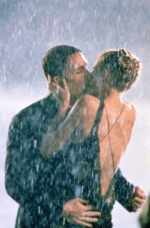 kissing in the rain!